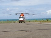 The only Rescue chopper for the whole set of Islands