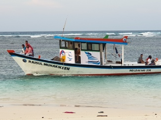 Boat Coming from Bangaram - nearby Private Island