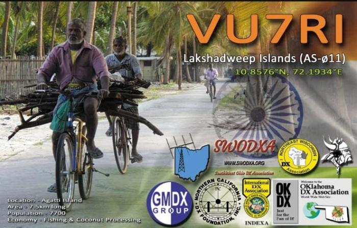 VU7RI QSL Card